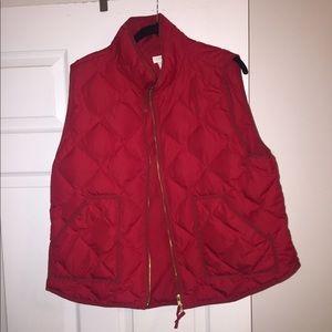 EUC XXL red j crew factory vest